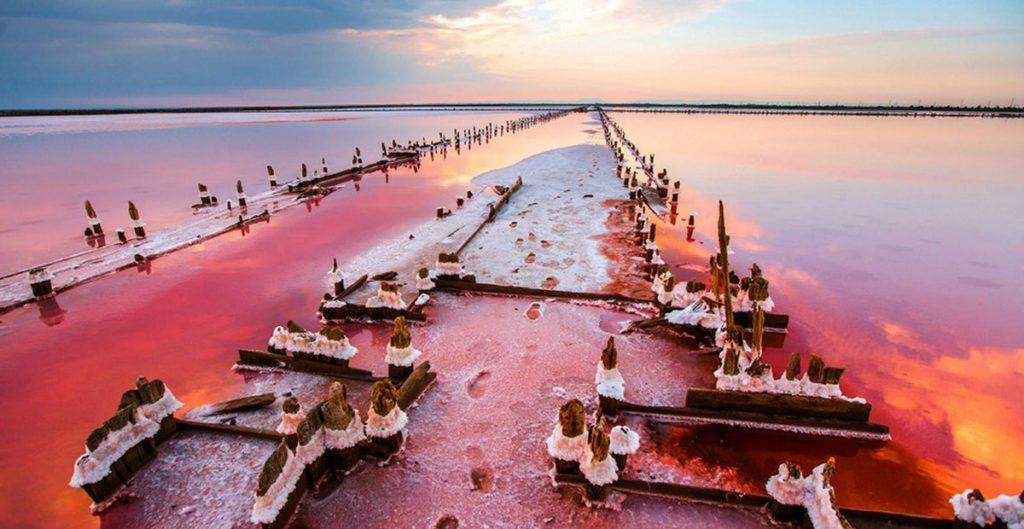 розовое озеро Сасык в Крыму как добраться